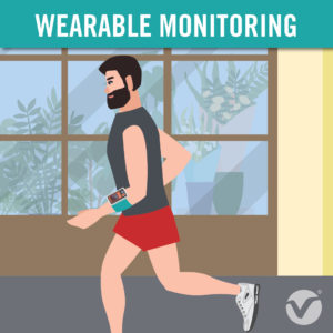 Wearable Monitoring Device - person running