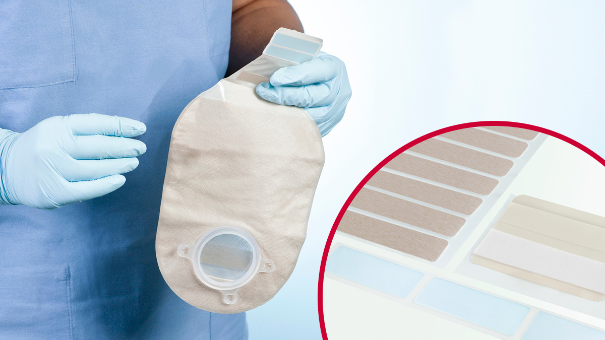 VELCRO® Brand hook and loop fasteners for ostomy devices