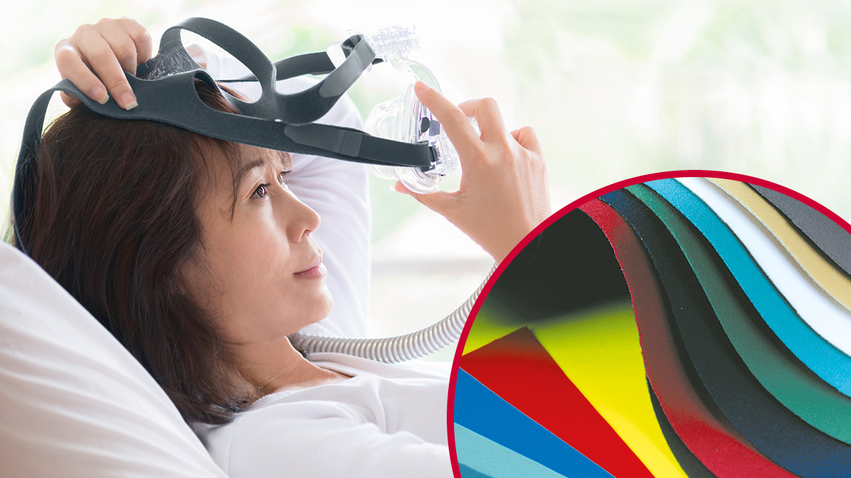 VELCRO® Brand hook and loop straps for respiratory devices
