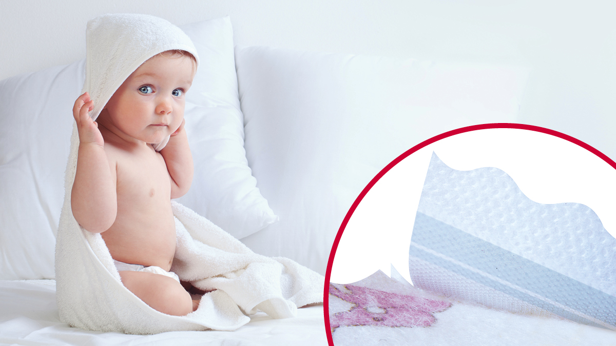 VELCRO® Brand soft fasteners for baby diapers