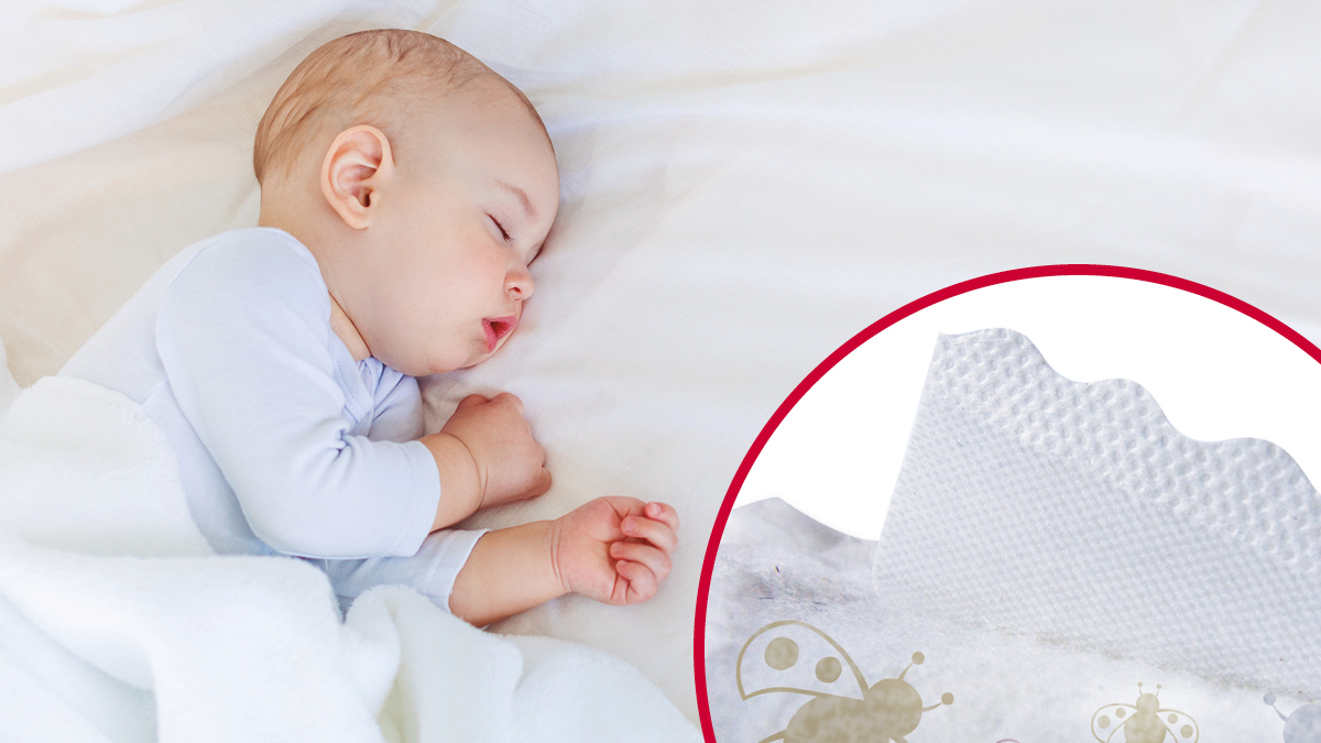 VELCRO® Brand soft fasteners for infant diapers
