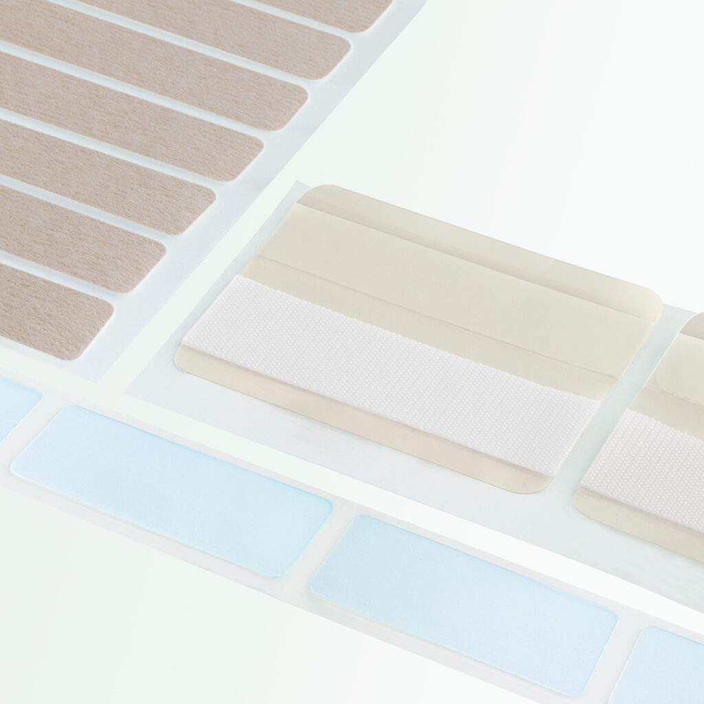 Adhesive & lamination options for VELCRO® Brand hook and loop products