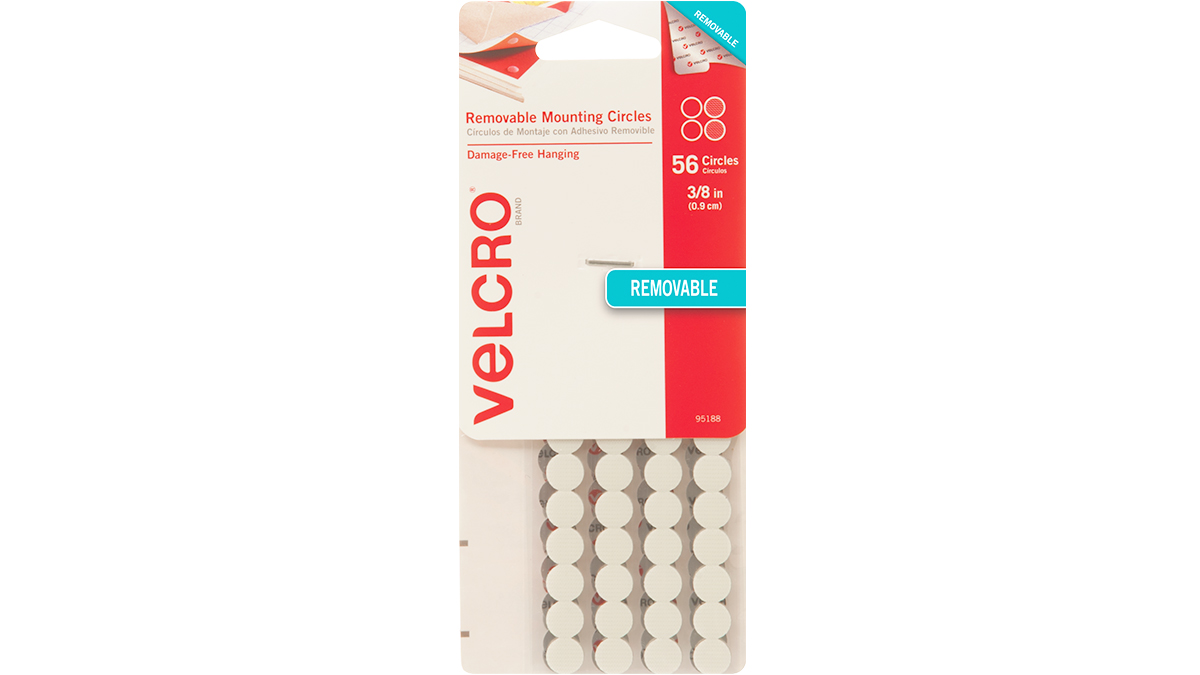 VELCRO® Brand Removable Mounting Strips, tape, circles